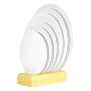 Modecor - Podkład okrągły pod tort fi 20 cm biały