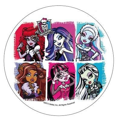 Modecor - opłatek na tort okrągły Monster High C