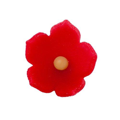 HOKUS - Kwiatek firmowy czerwony - Kwiaty cukrowe 8 x 10 szt.