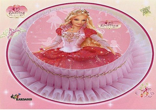 Kardasis - opłatek na tort Barbie Dancing Princess