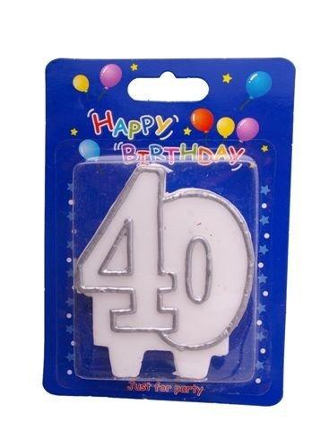 """Świeczka cyfra """" 40 """""""