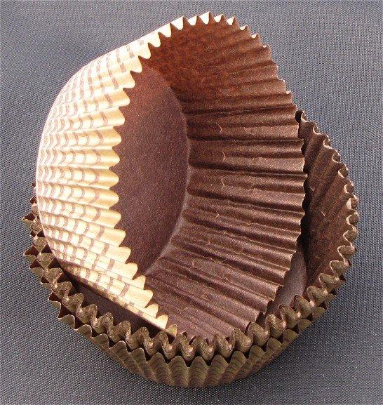 Papilotki - foremki do mufinek brązowo-złote  35 mm 100 szt.