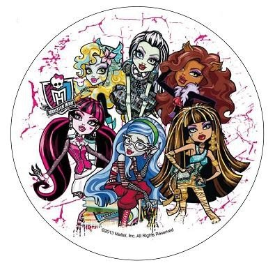 Modecor - opłatek na tort okrągły Monster High D