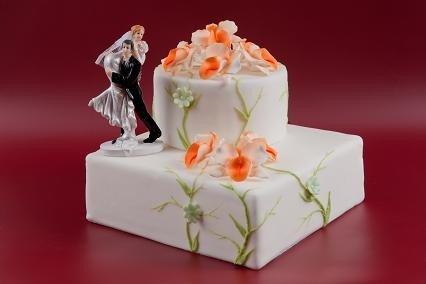 Kwiaty cukrowe - Storczyk opak. 10 szt. - pistacjowy
