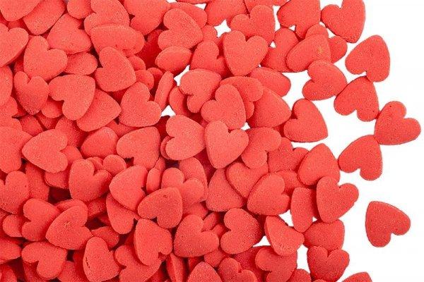 Posypka dekoracyjna confetti serduszka czerwone 15g