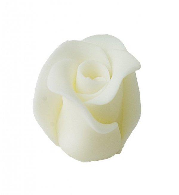 Róża duża 22 szt. biała