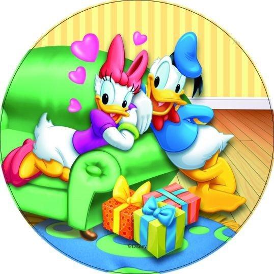 Modecor - opłatek na tort okrągły Kaczor Donald