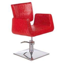 Fotel Fryzjerski Vito BH-8802 Czerwony Lux BS