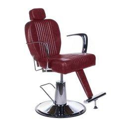 Fotel Barberski Olaf BH-3273 Wiśniowy BS
