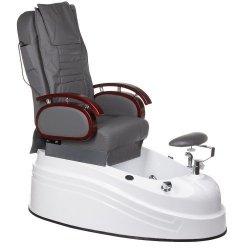 Fotel do pedicure z masażerem BR-2307 Szary BS