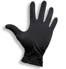Rękawiczki nitrylowe czarne bezpudrowe rozmiar S 100 sztuk