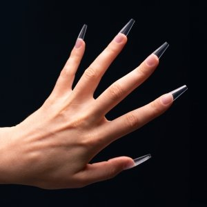 MANI KING INSTANT NAILS Full Cover Tips A4: TRUMIENKI