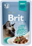 Brit Premium Cat Adult Filety wołowe w sosie 24x85g