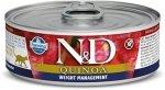 N&D Cat Quinoa Weight Management - Jagnięcina, brokuły i szparagi 80g