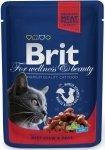Brit Premium Cat Adult Beef stew & Peas - Gulasz wołowy z groszkiem 100g