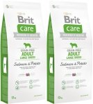 Brit Care Grain Free Adult Large Breed Salmon 34% & Potato 2x12kg (24kg)