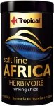 Tropical Soft Line Africa Herbivore Sinking Chips 250ml/130g