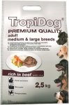 Tropidog Premium Adult Medium & Large Breeds - Wołowina i Ryż 2,5kg
