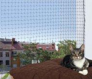 Trixie Siatka ochronna do okien i balkonów - czarna 6x3m