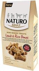 Naturo Mini Treats Bones - ciastka z jagnięciną i ryżem dla wrażliwych psów 150g