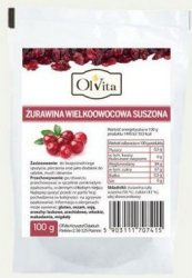 Dried Cranberries, Olvita, 100g