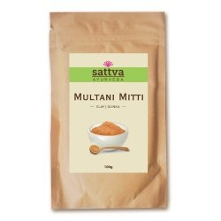 Multani Mitti Clay, Sattva Herbal, 100g