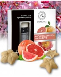 Aromatherapy Set with Pure Essential Oils and Ceramic Asterisks Rosewood & Grapefruit
