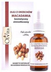 Macadamia Nut Oil Cold pressed, Olvita, 30ml