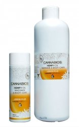 Hemp Massage Oil X-OIL Lemon Cannabios