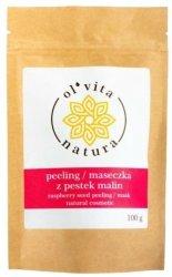 Peeling / Maseczka z Pestek Malin, Olvita, 100g