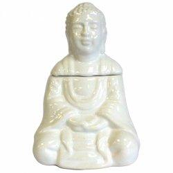 Kominek Zapachowy Ceramiczny Siedzący Budda, Biały