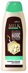 Mleczny Szampon Odbudowa Włosów bez Obciążania, Milk Protein