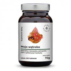 Moja Wątroba: Karczoch + Ostropest + Kurkuma, Aura Herbals, 120 tabletek
