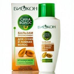 Бальзам-ополаскиватель «Сила Волос» для сухих и ломких волос, Биокон
