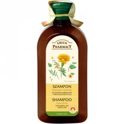 Шампунь для жирных волос, Календула, Зеленая Аптека