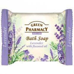 Мыло косметическое Лаванда и Льняное масло, Зеленая аптека