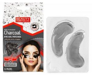 Żelowe Płatki pod Oczy z Aktywnym Węglem, Beauty Formulas