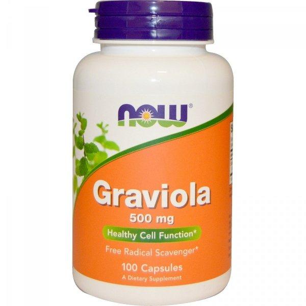 Graviola 500 mg, 100 kapsułek Now Foods