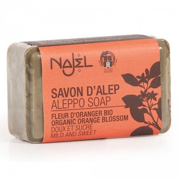 Mydło z Aleppo z Wodą z Kwiatów Pomarańczy BIO, Najel