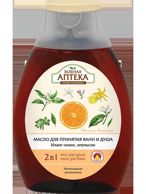 Olejek do Kąpieli i pod Prysznic 2 w 1 Ylang-Ylang/Pomarańcza, Pobudza Zmysłowość