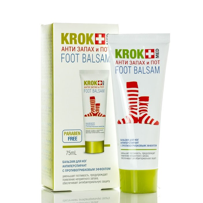 "Foot Balm KROK MED ""Anti-smell And Sweat"", 75 ml"