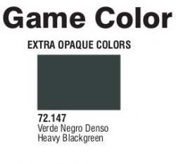 Game Color (72147) Extra Opaque | Heavy Black Green 17 ml.