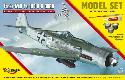 Mirage 872062 1/72 [MODEL SET] Focke-Wulf FW 190 D-9