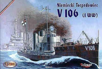 Mirage 400208 1/400 Niemiecki torpedowiec V 106 ( I WŚ)