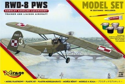 Mirage 848092 1/48 [MODEL SET]  R.W.D.-8 (PWS)  [Polski Samolot Szkolno-Łącznikowy]
