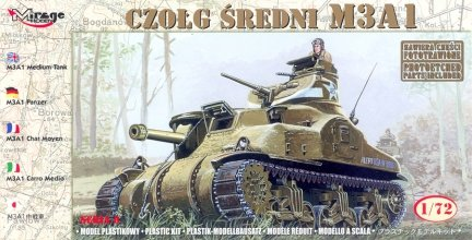 Mirage 72803 1/72 M3A1 Czołg Średni