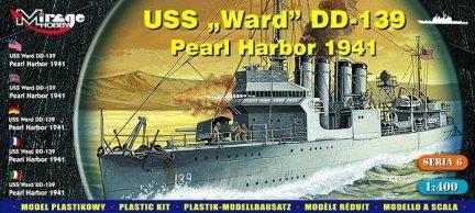 Mirage 40601 1/400 USS Ward DD-139 'Pearl Harbor 1941'  [Amerykański Niszczyciel II WŚ]