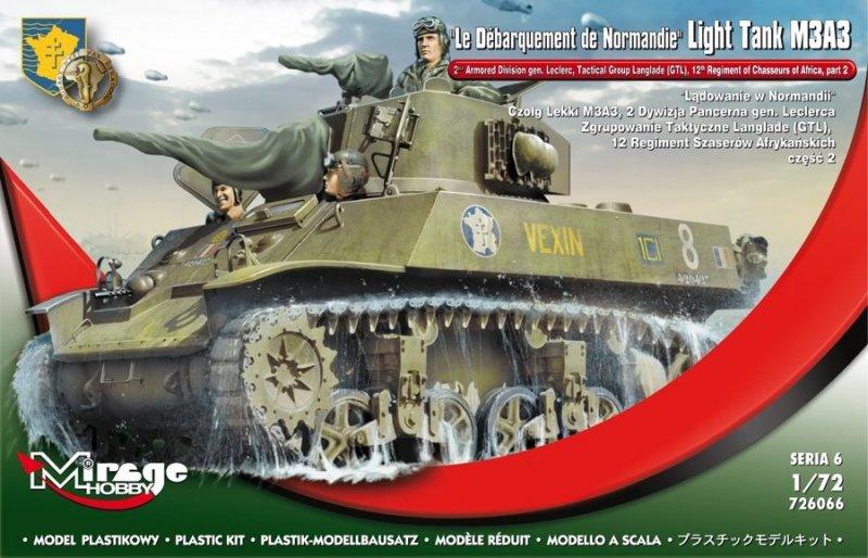 726066 Lądowanie w Normandii, Czołg Lekki M3A3, Dywizja Pancerna gen.Leclerca.Zgrupowanie Taktyczne Langlade(GTL