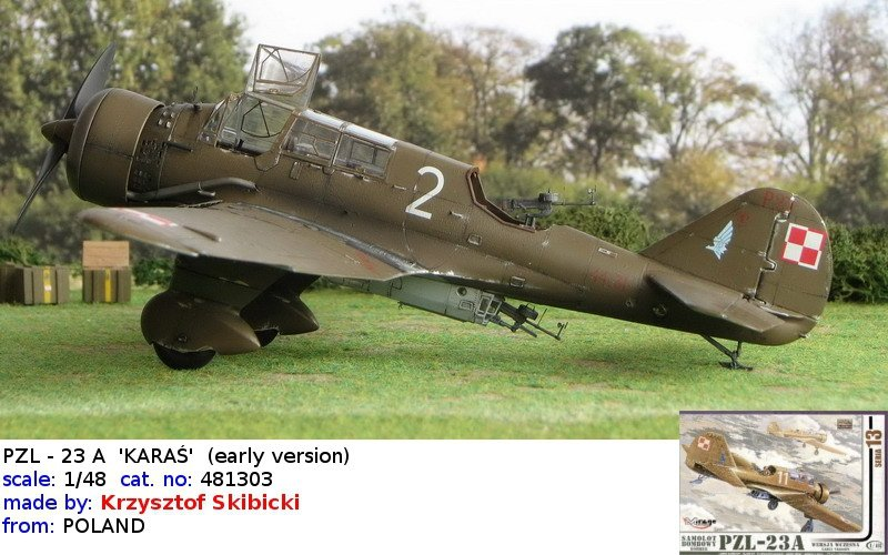 Mirage 481303 1/48 PZL-23A 'KARAŚ' Samolot Bombowy (wersja wczesna)