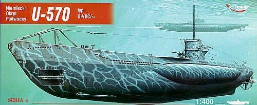 Mirage 40411 1/400 U-570 typ U-VIIC Turm I niemiecki okręt podwodny